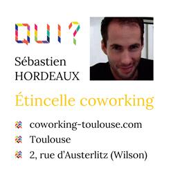 Sébastien Hordeaux, créateur de l'espace de coworking Etincelle